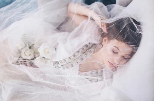 нежная фотосессия невесты Харьков фото