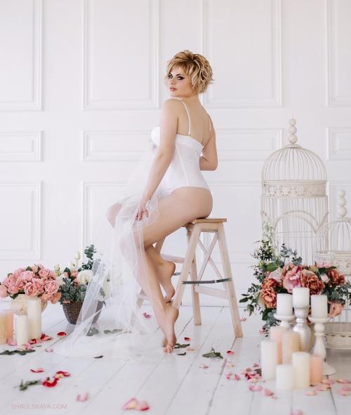 фотосессия сборов невесты в белье Анна шаульская Харьков фото
