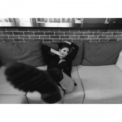 чёрно-белый женский портрет харьков фото