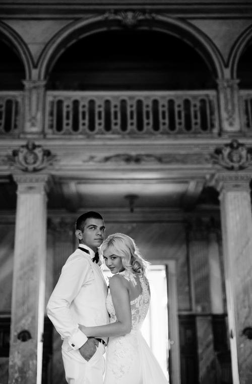черно-белая свадебная фотография фото