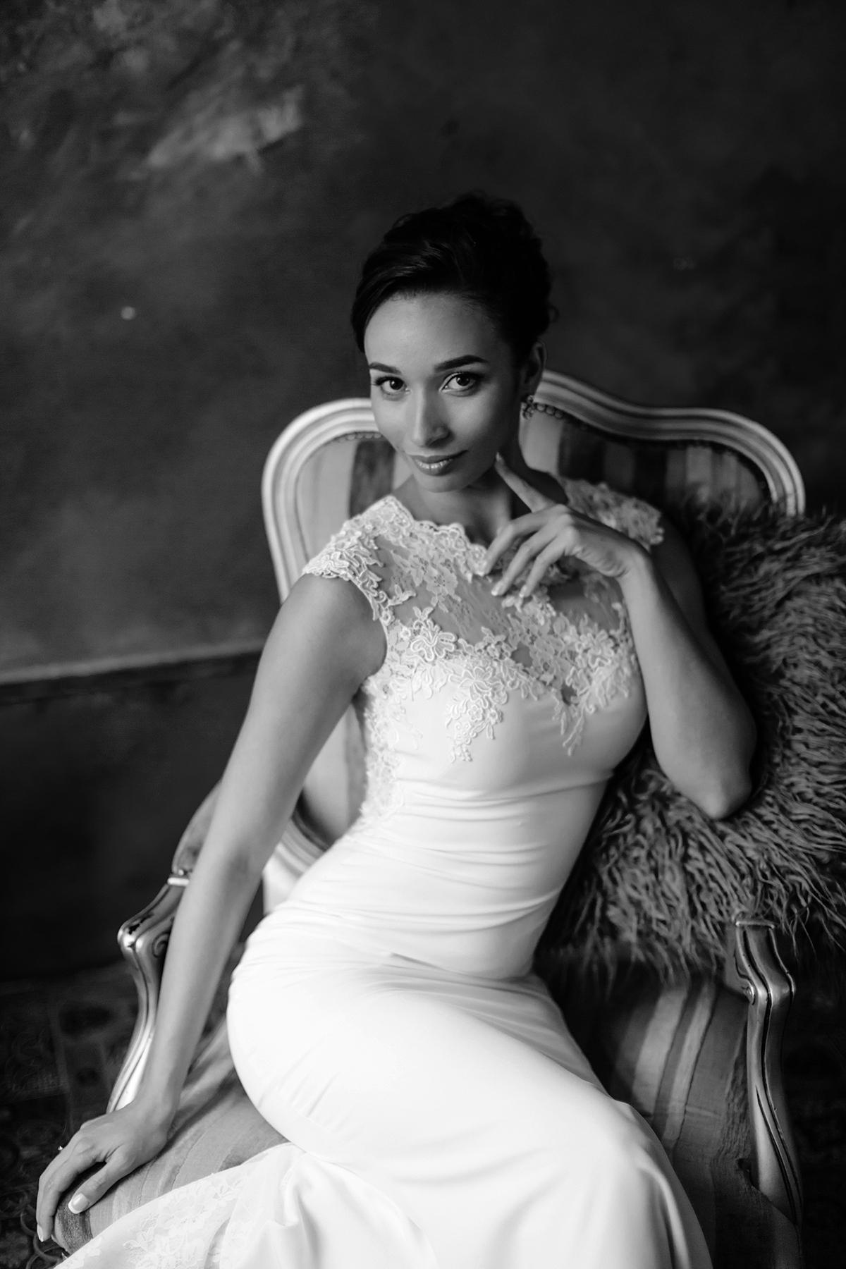 чёрно-белый портрет невесты Харьков фото