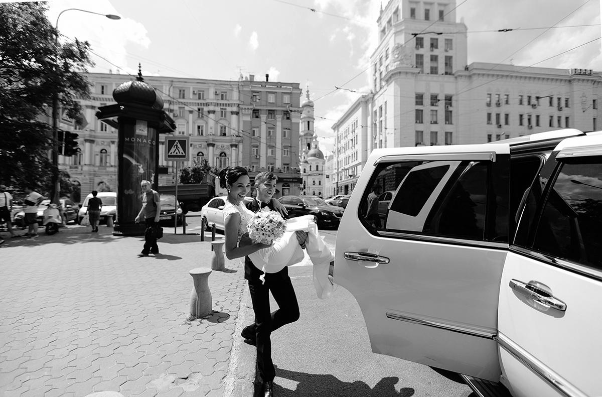 чёрно-белая свадебная фотография фото