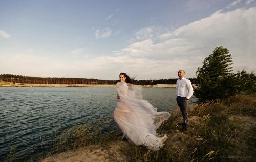 Свадебная фотосессия озеро пляж Харьков фото