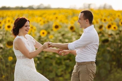 свадебная фотосессия в подсолнухах Харьков фото