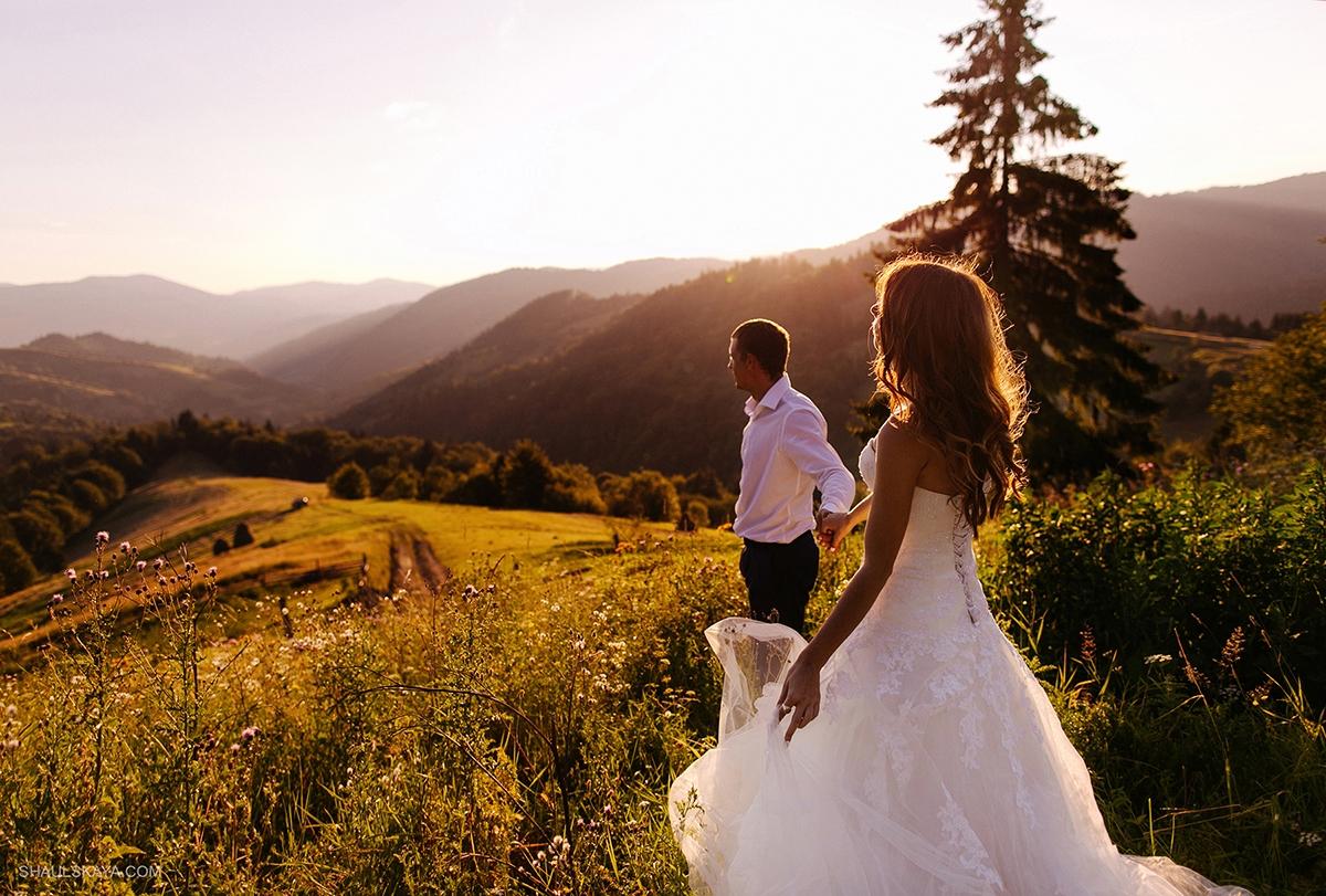 свадьба в горах Карпаты фото