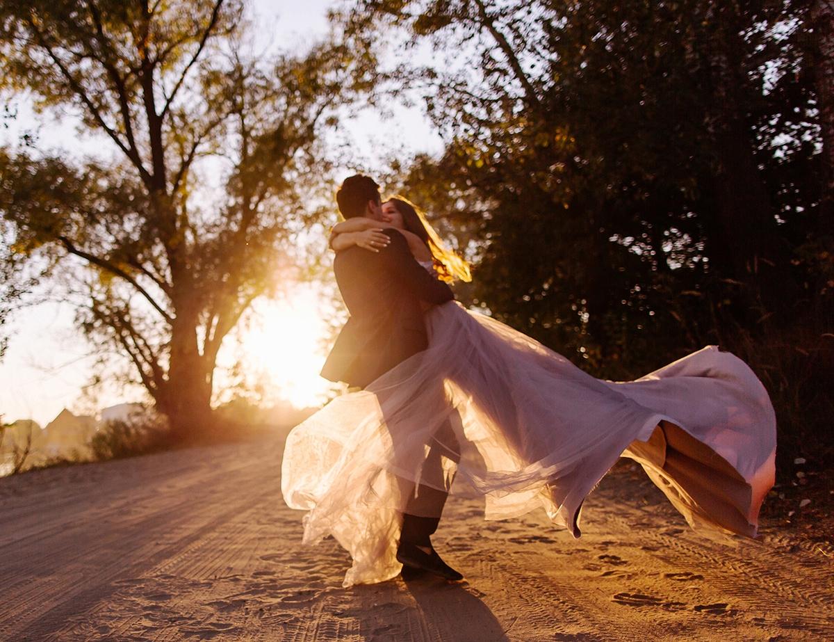 пудровое свадебное платье фотограф Харьков фото