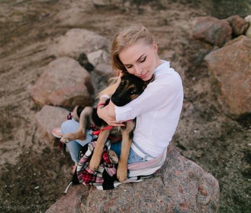 фотосессия со щенком фото