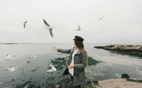 женская фотосессия у моря Харьков фото