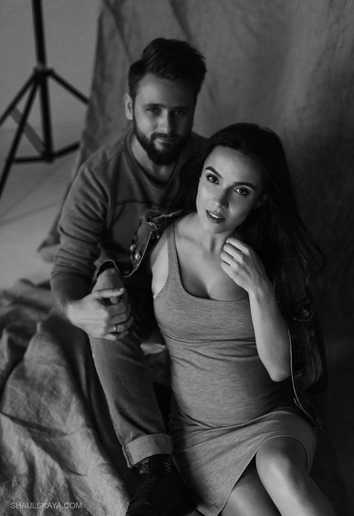 чёрно-белая фотосессия беременности Харьков фото