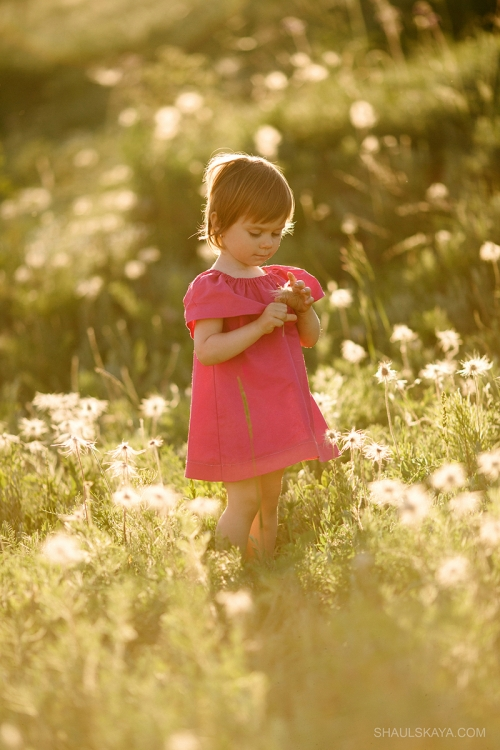 детская фотосессия в цветах Харьков фото