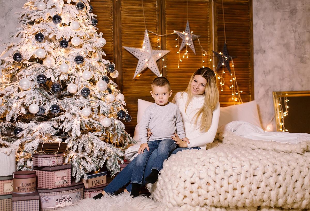 новогодняя семейная фотосессия Львов фото